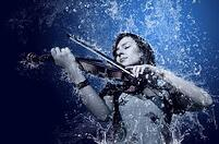 Violinist in Water WEB