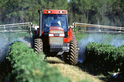 crop spraying tractor