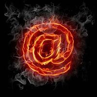 Flaming Email iPad Wallpaper 520x520