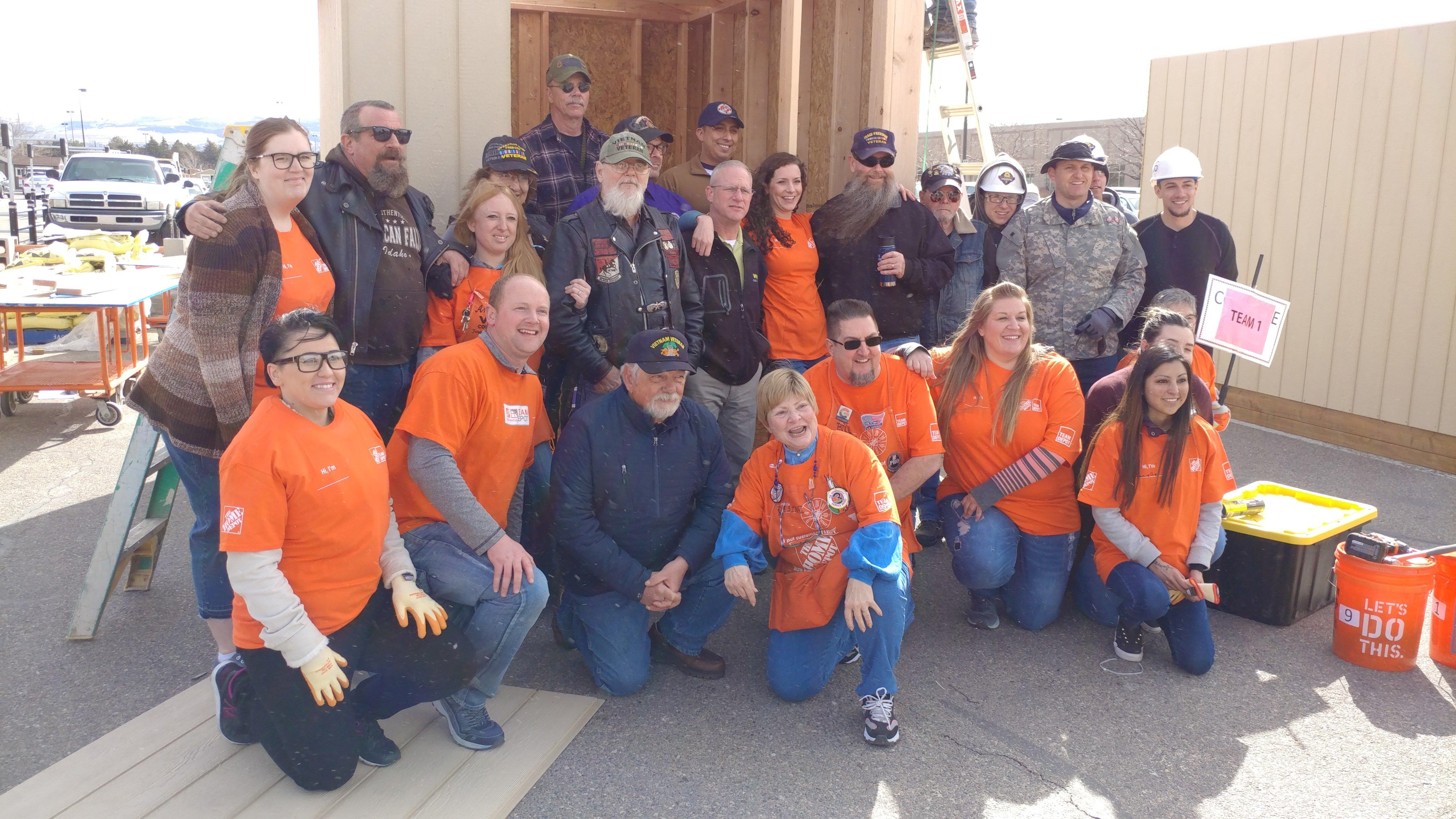 Construction Combine participants at Home Depot
