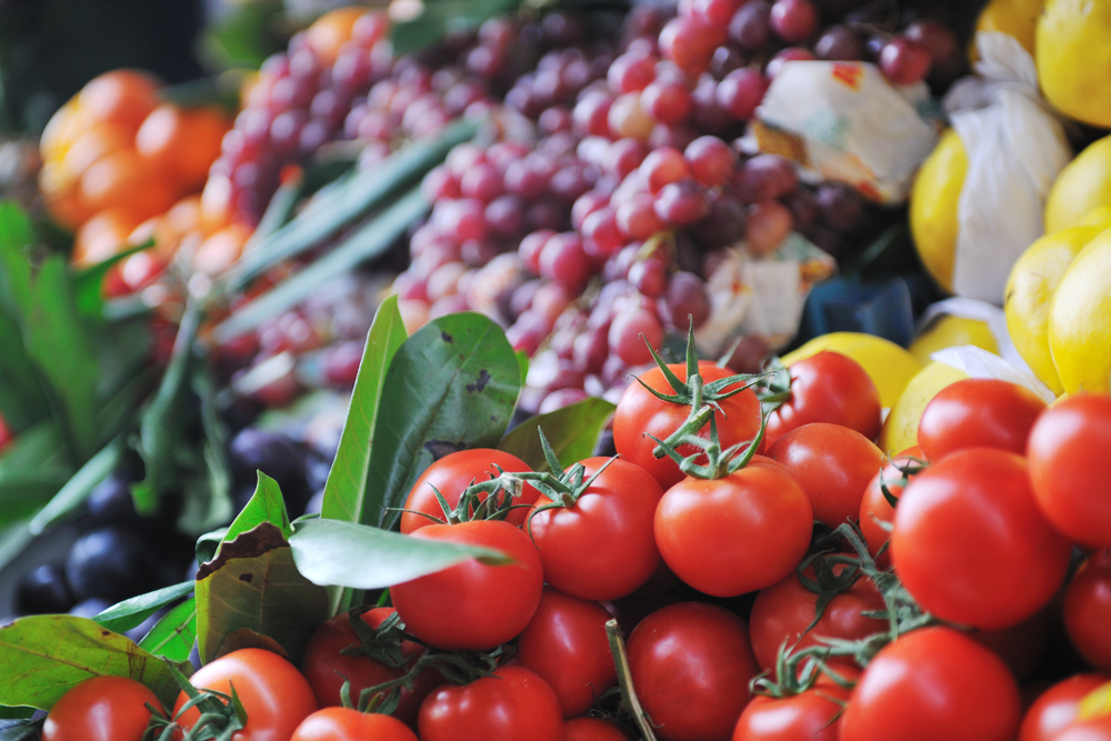 fresh healthy organic food  fruits and vegetables at market-1